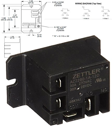 American Zettler Power Relay For Atwood 93849 Water Heater
